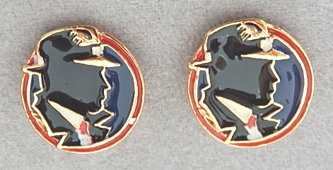 wendy gell dick tracy earrings signed