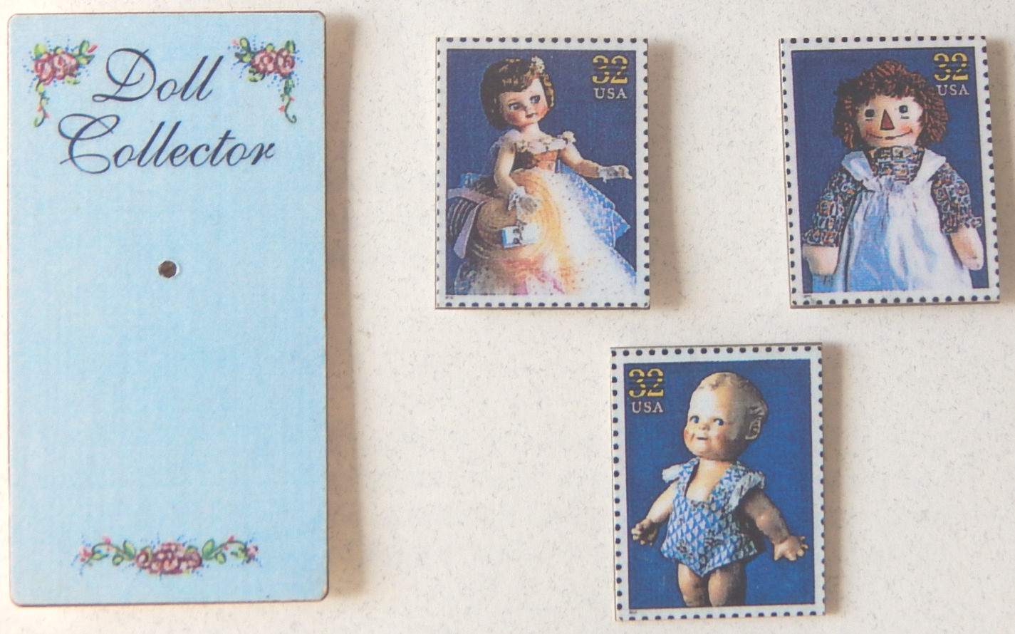 American Dolls postage stamp jewelry