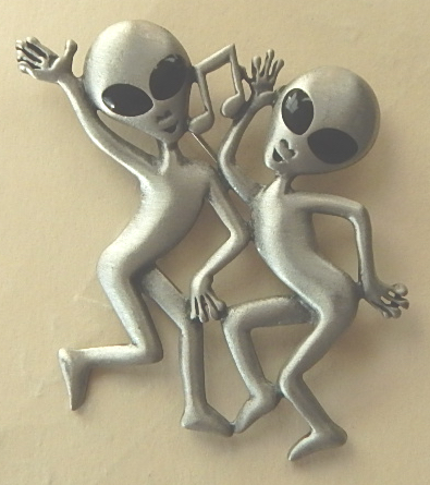 "JJ Artifact Alien Pin 2"" x 2"""