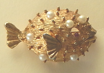 Napier puff fish pin