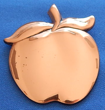 Big Copper Apple Pendant