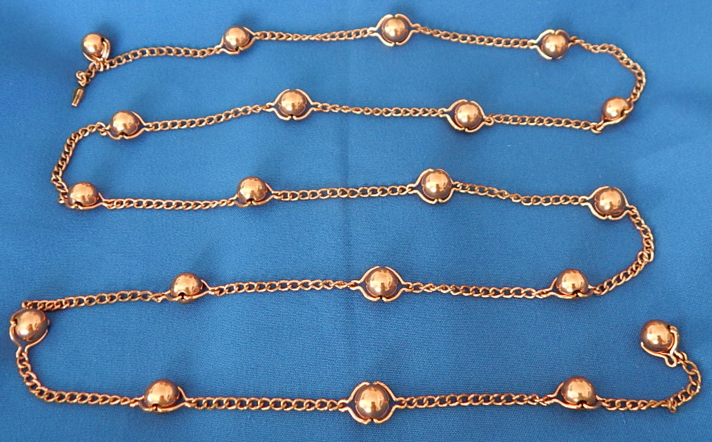Renoir Copper Chain Belt