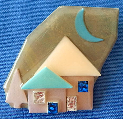 Lucite House Pin by Lucinda