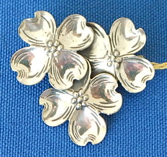 BEAU sterling flower pin