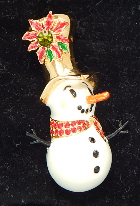 Christopher Radko seasonal snowman pin