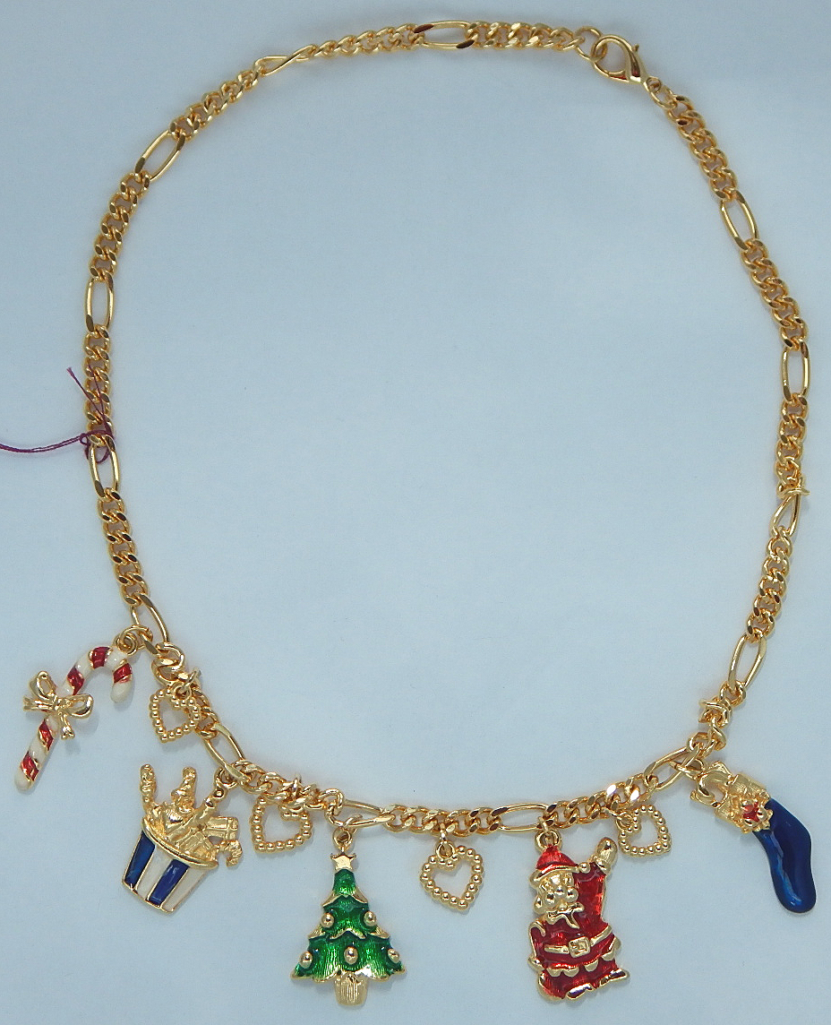 Unsigned Christmas Necklace