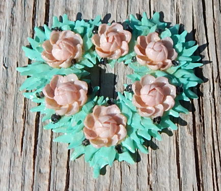 celluloid flower wreath