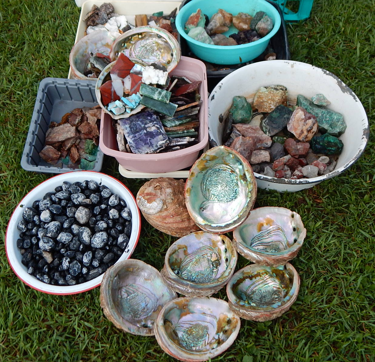 Assorted Rock Collection Lapidary Materials