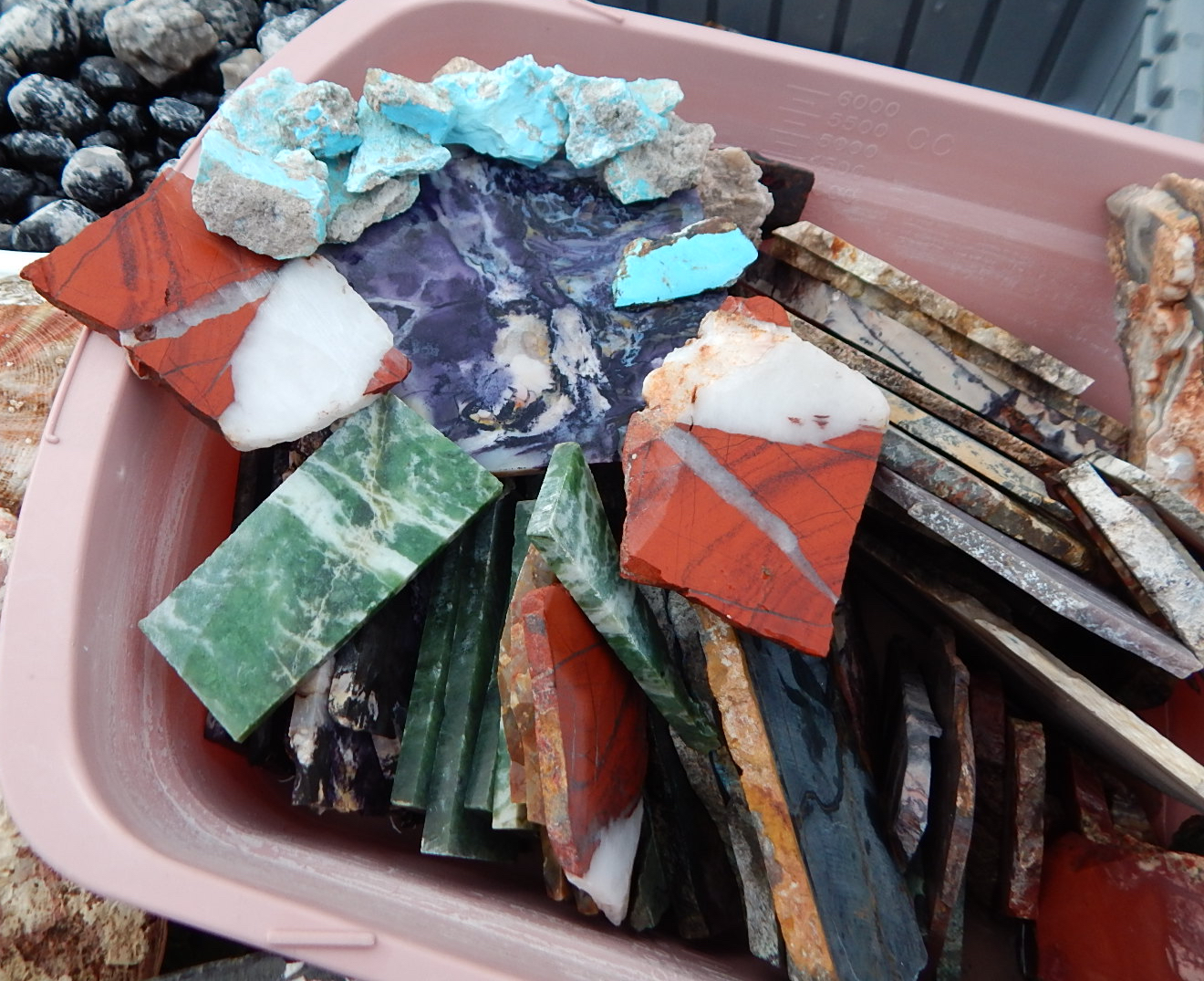 Assorted Lapidary Slabs Gem Materials