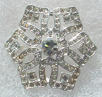 Medium Rhinestone Snowflake Pin