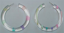 Lucite hoop post earrings