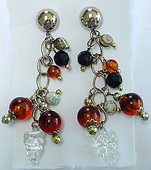 Lucite dangle post earrings