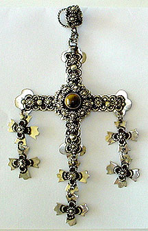 Mexican silver Taxco cross