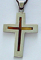 Mexican sterling amber cross