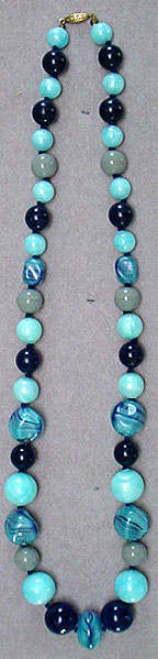Plastic glass bead necklace