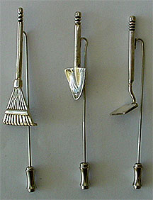 Sterling stick pins