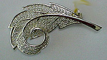 Germany sterling leaf pin