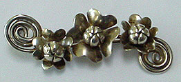 Raffaele sterling flower pin