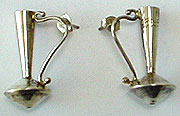 Native American silver post earrings