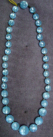 Plastic beaded necklace