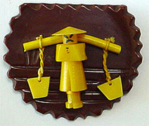 Vintage celluloid pin