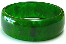 Lucite green bangle