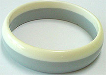 Plastic gray lucite bangle