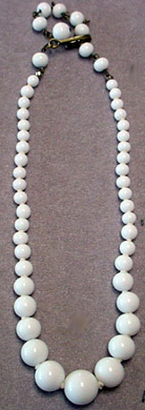 Vintage white bead necklace